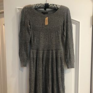 American Eagle Gray Midi Sweater Dress